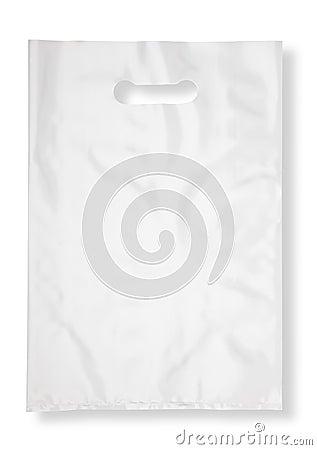Free Plastic Bag On White Royalty Free Stock Photos - 23655608