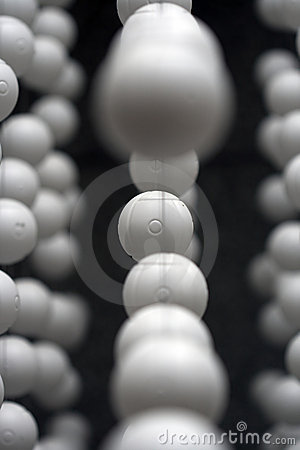 Plastic balls background