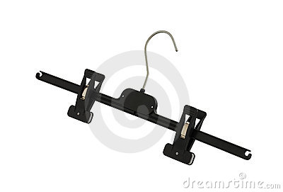 Plastic black pants hanger with pegs