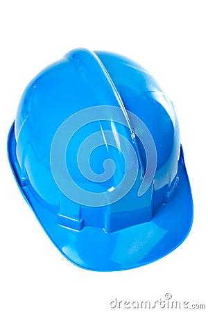 Plastic blue hard hat