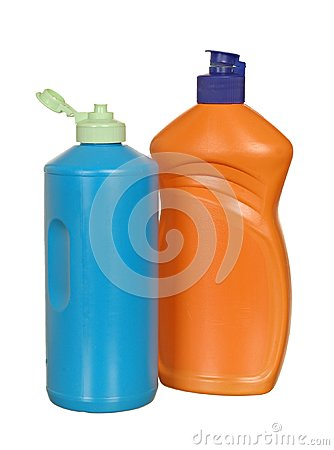 Plastic Bottle with cleanser
