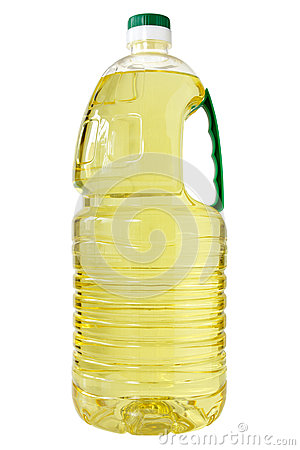 Plastic bottle of cooking oil