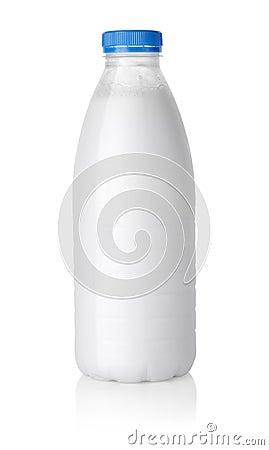 Free Plastic Bottle Of Milk Path Stock Photo - 20819050