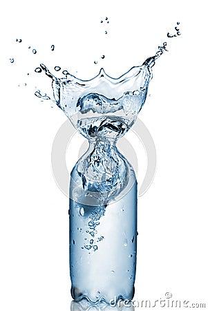 Free Plastic Bottle With Water Splash Isolated Stock Image - 16112921