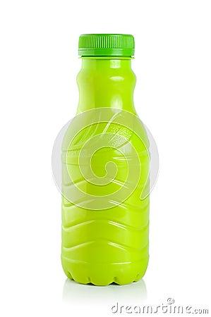 Plastic bottle of yogurt