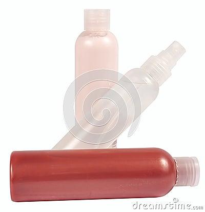 Plastic  bottles for bath