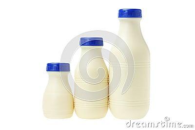 Plastic Bottles of Milk