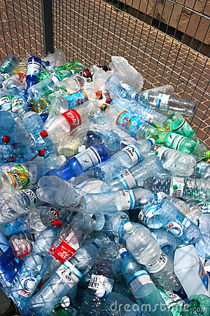 Plastic bottles recycling center Editorial Photography