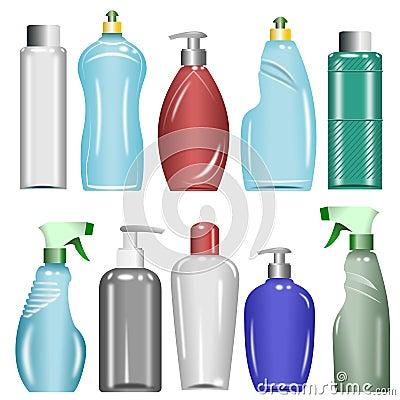 Free Plastic Bottles Set 6 Stock Image - 19730051