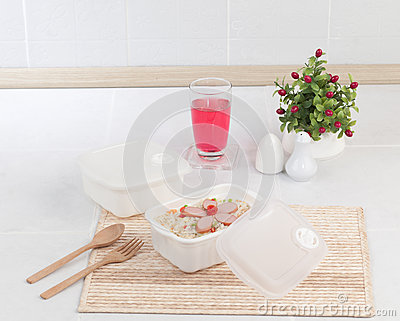 Plastic box for picnic or lunch