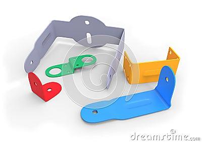Plastic brackets