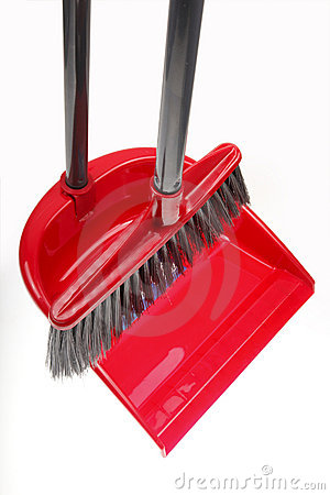 Plastic broom with dustpan