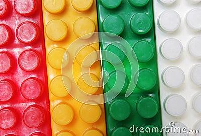Plastic building blocks background