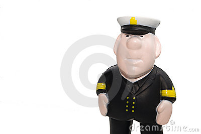 Plastic captain figurine