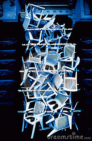 Free Plastic Chairs Royalty Free Stock Image - 177966