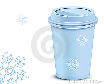 Plastic coffee cup with lid