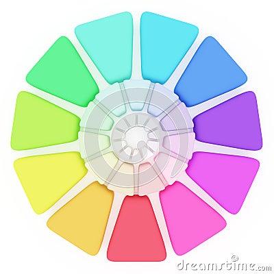 Plastic Color pallete