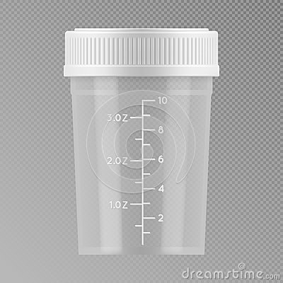 Free Plastic Container For Medical Analyzes. Stock Images - 84262014