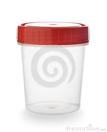 Free Plastic Container For Urine Isolated Stock Images - 94664544
