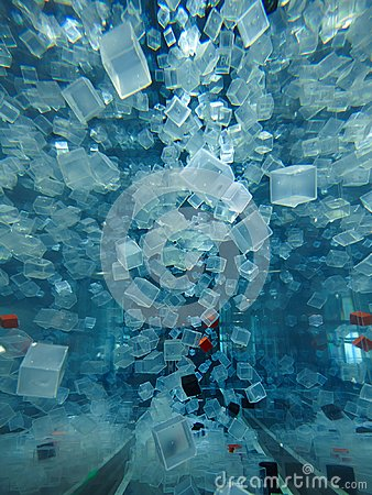 Free Plastic Cubes In Water Stock Photography - 103366912