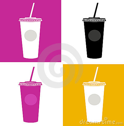 Plastic cup / glass icons - pop art