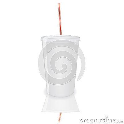 Plastic cup,vector