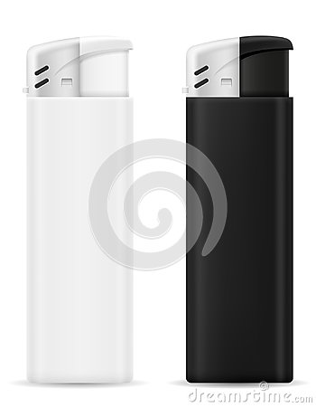 Free Plastic Disposable Lighter Vector Illustration Royalty Free Stock Image - 105003916