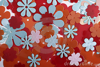 Plastic flower background