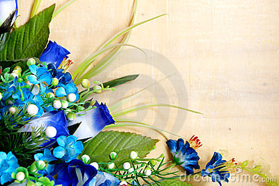 Plastic flower design
