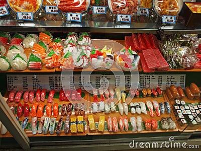 Plastic Food Models Editorial Stock Image