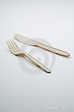 Free Plastic Fork And Knife Royalty Free Stock Photography - 53227817