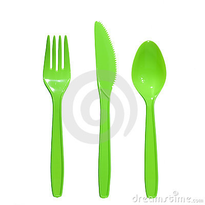 Plastic fork knife spoon
