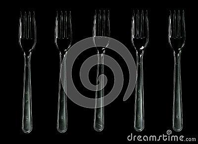 Plastic forks