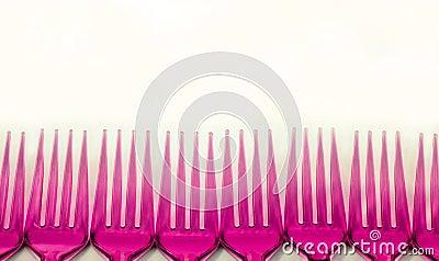 pink  forks