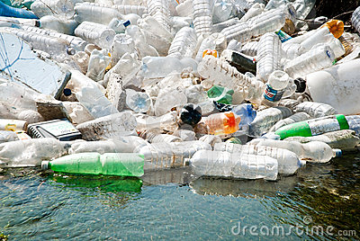 Plastic garbage Editorial Stock Image