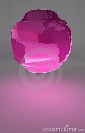 Plastic Globe - the continents of the world.