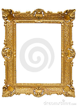 Plastic Golden Picture Frame w/ Path