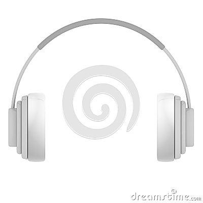 Plastic Headphones isolated on white