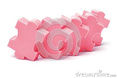 Plastic jigsaw puzzles