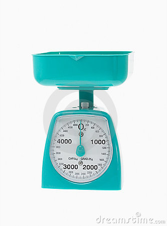 Free Plastic Kitchen Scale Royalty Free Stock Image - 6098516
