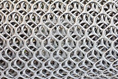 Plastic mesh.