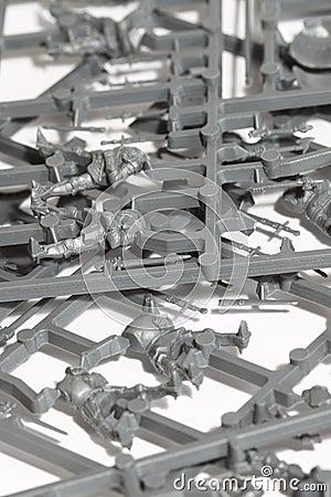 Plastic model parts A