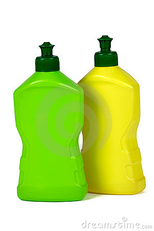 Plastic packaging bottles (isolated)