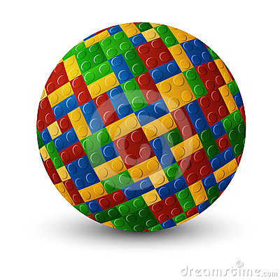 Plastic pieces sphere