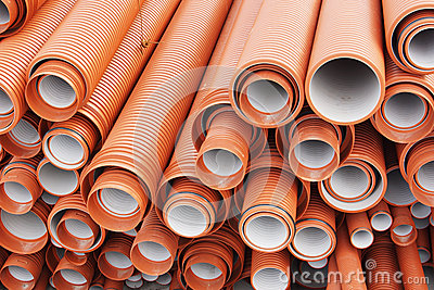 Plastic pipes for sewage