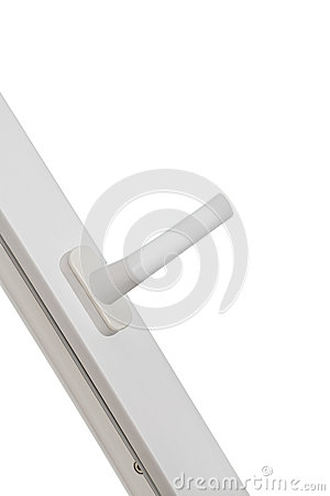Plastic pvc window with handle