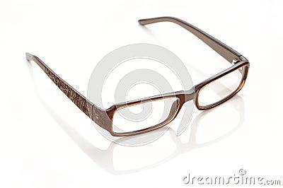 Plastic-rimmed eyeglasses