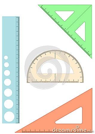Plastic school rulers