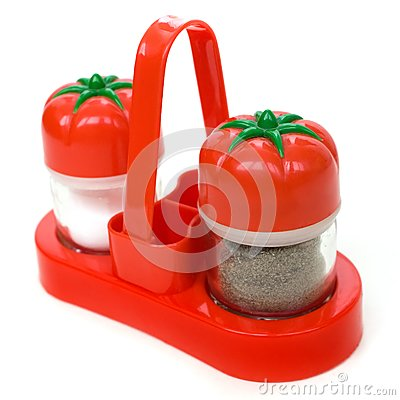 Plastic set of salt and pepper