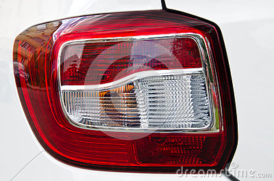 Plastic shiny modern tail light